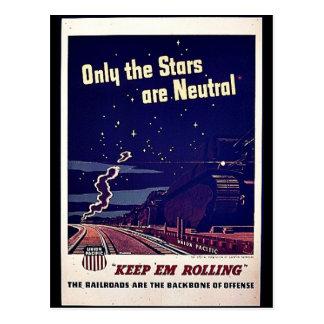 Seulement les étoiles sont neutres carte postale