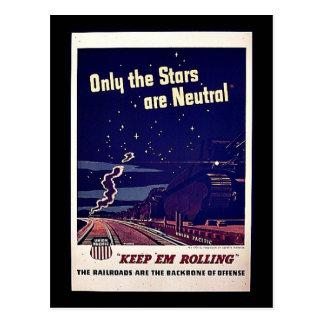 Seulement les étoiles sont neutres cartes postales