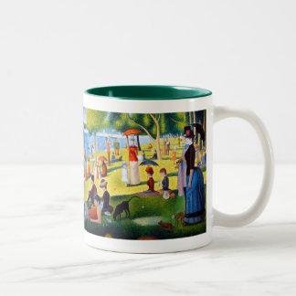 Seurat: A Sunday at La Grande Jatte Two-Tone Coffee Mug