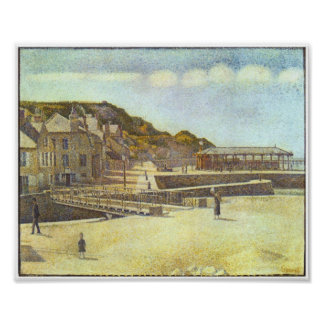 Seurat-Bridge and Port of Port-en-Bessin Poster