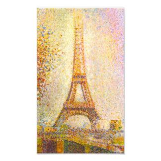 Seurat Eiffel Tower Print Photographic Print