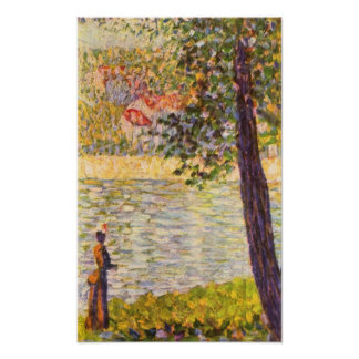 Seurat-Morning walk (The Seine at Courbevoie) Poster