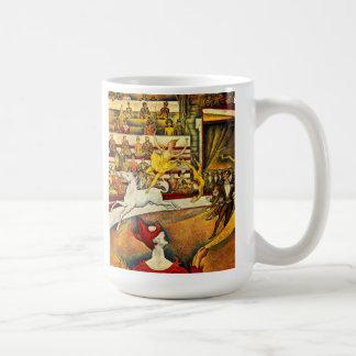 seurat Painting - The Circus Basic White Mug