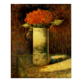 "Seurat's ""Vase of Flowers"" Poster"