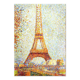 Seurat: The Eiffel Tower Card