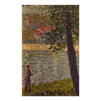 Seurat: The Morning Walk (The Seine at Courbevoie) Poster