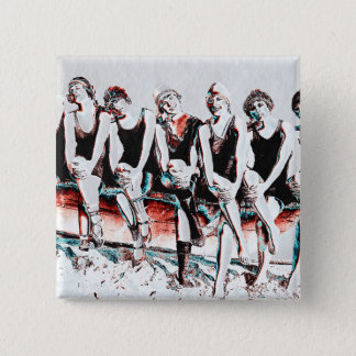 Seven Bathing Beauty Pals 2 Inch Square Button
