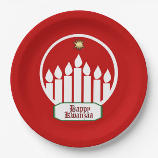 Seven Bright Days Kwanzaa Party Paper Plates