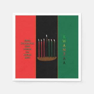 Seven Candles Kwanzaa Party Paper Napkins
