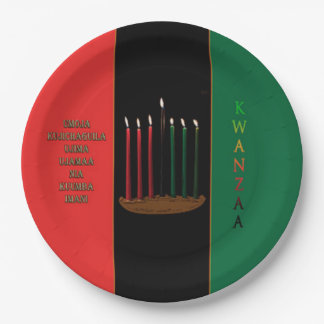 Seven Candles Kwanzaa Party Paper Plates