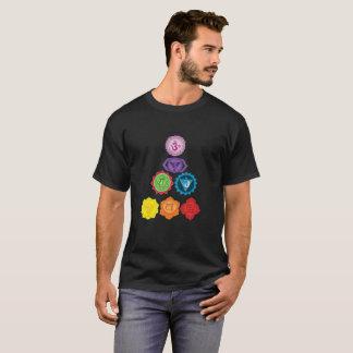 Seven Chakra Basic Dark T-Shirt, Yoga Healers T-Shirt