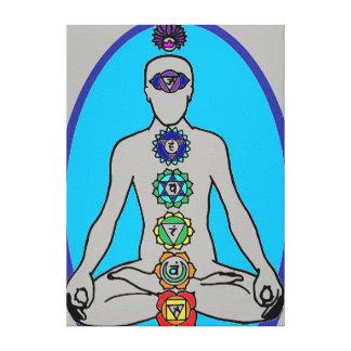 seven chakras canvas print