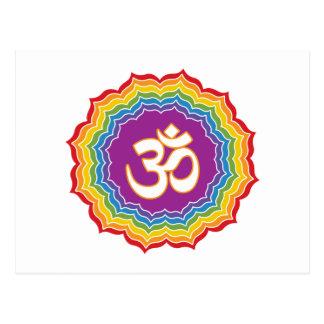 Seven Chakras Colors Postcard