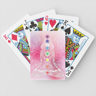 Seven Chakras Pink Lady Bicycle Playing Cards