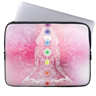 Seven Chakras Pink Lady Laptop Sleeve