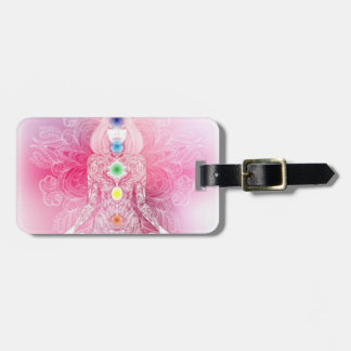 Seven Chakras Pink Lady Luggage Tag