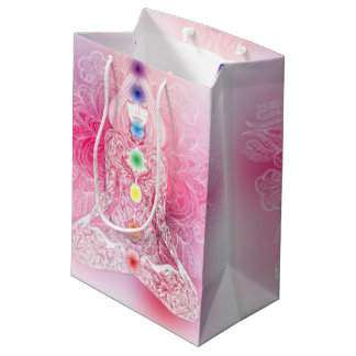 Seven Chakras Pink Lady Medium Gift Bag