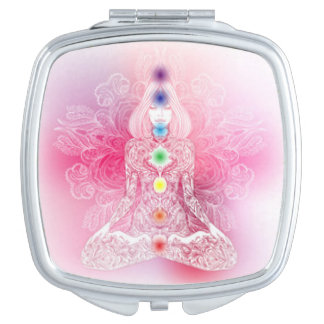 Seven Chakras Pink Lady Mirror For Makeup