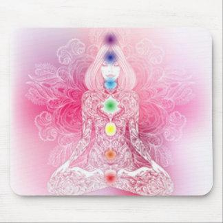 Seven Chakras Pink Lady Mouse Pad