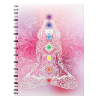 Seven Chakras Pink Lady Notebook