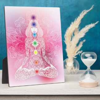 Seven Chakras Pink Lady Plaque