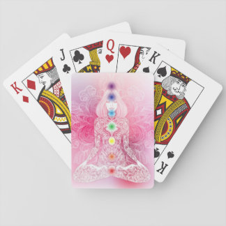 Seven Chakras Pink Lady Playing Cards