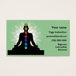 Seven Chakras Yoga Design Business Cards