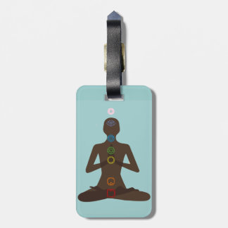 Seven Chakras Yoga Pose Design Luggage Tags