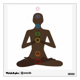 Seven Chakras Yoga Pose Wall Decal