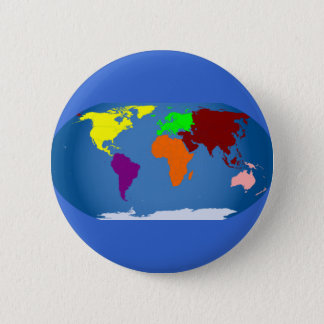 Seven Continents Colored 2 Inch Round Button