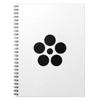 Seven day city star plum bowl A Spiral Notebook