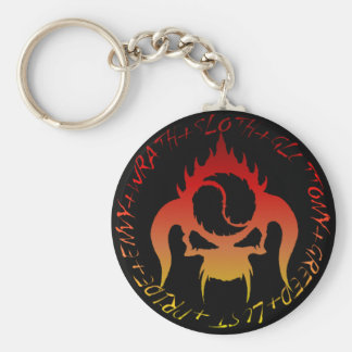 Seven deadly sins button key-chain keychain