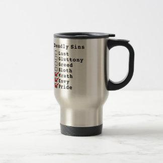 Seven Deadly Sins Checklist (0000111) Travel Mug