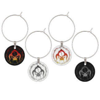 Seven deadly sins wine charms