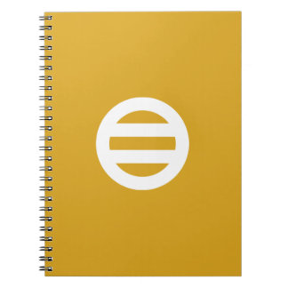Seven dividing two pulling spiral notebook