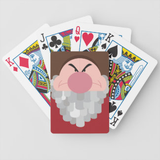 Seven Dwarfs - Grumpy Character Body Bicycle Playing Cards