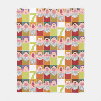 Seven Dwarfs Stylized Character Art Fleece Blanket