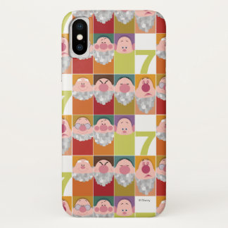 Seven Dwarfs Stylized Character Art iPhone X Case