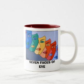 SEVEN FACES OF EVE Two-Tone COFFEE MUG