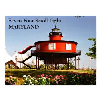 Seven Foot Knoll Light, Maryland Postcard