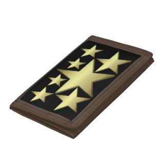Seven Gold Star TriFold Nylon Wallet
