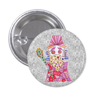 Seven luck God/寿 old person can badge 1 Inch Round Button