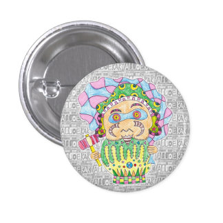 Seven luck God/Daikoku heaven can badge 1 Inch Round Button