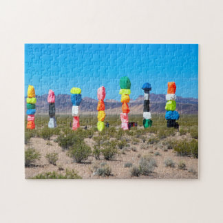 Seven Magic Mountains Nevada. Jigsaw Puzzle
