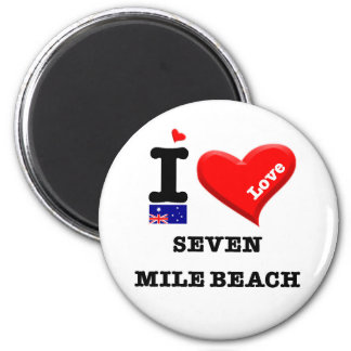 SEVEN MILE BEACH - I Love Magnet
