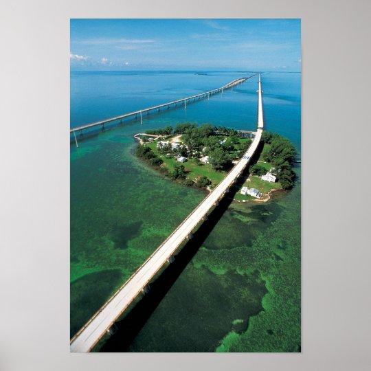 Seven Mile Bridge and Pigeon Key, Florida Keys Poster
