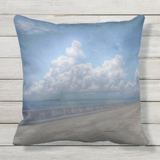 Seven mile bridge print throw pillow