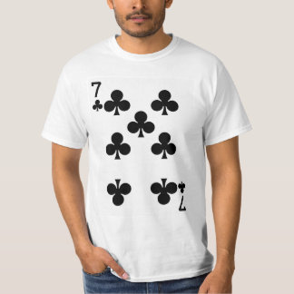 Seven of Clubs Playing Card T-Shirt
