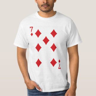 Seven of Diamonds Playing Card T-Shirt
