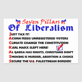 Seven Pillars Of Liberalism Sticker